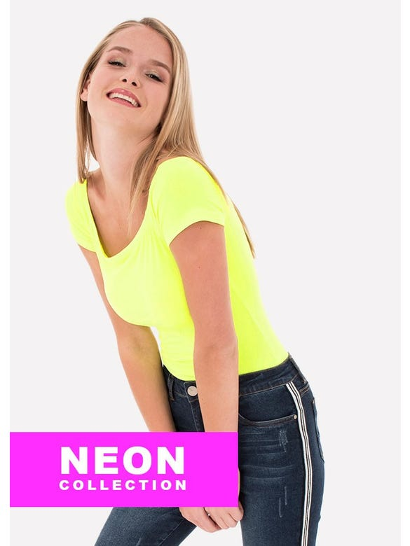 BODY NEON OFF SHOULDER MANGA CORTA