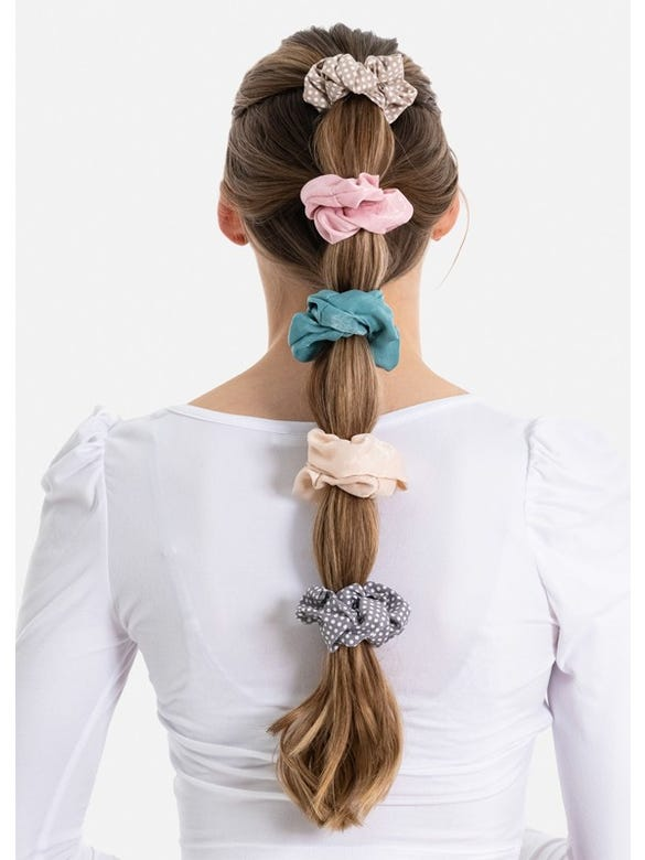 5 P SCRUNCHIES PUNTITOS COLOR
