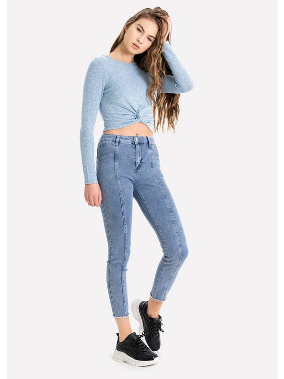 JEANS COSTURA FRONTAL