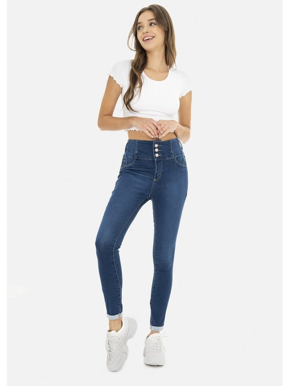 JEANS CINTURA MEDIA PUMP UP