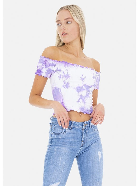 TOP TIE DYE OFF SHOULDER