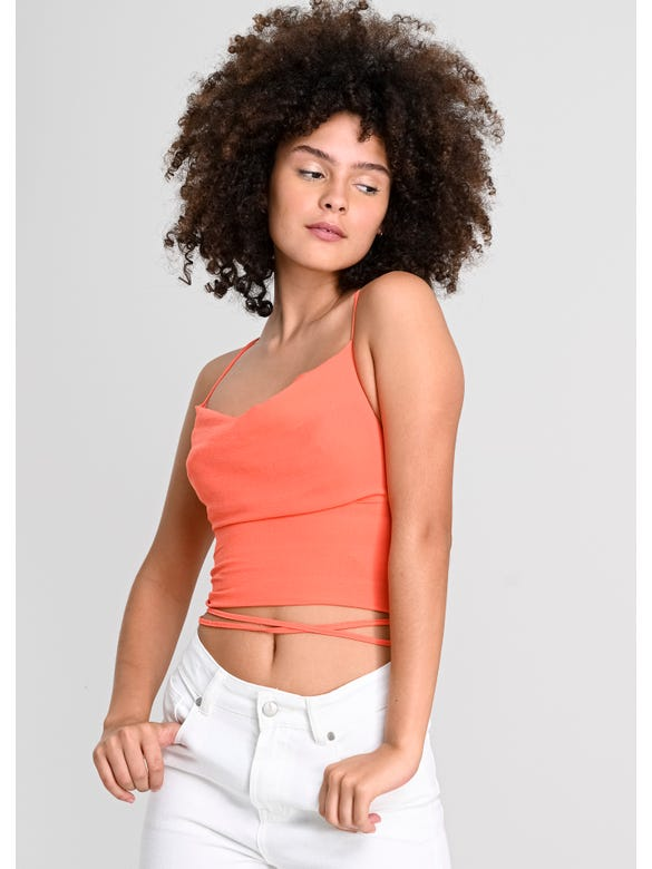 (SE)TOP LISO LACE UP