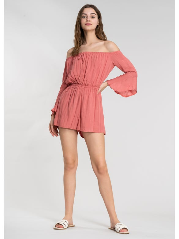 (CT)ROMPER OFF SHOULDER